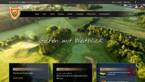 Screenshot Internetseite Golfclub Schaumburg