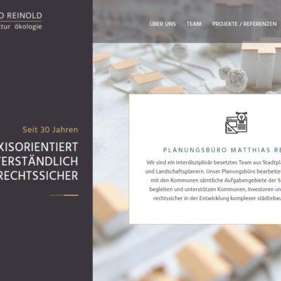 Screenshot Planungsbüro Reinold