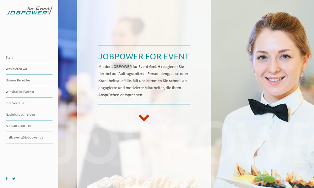 screenshot internetauftritt jobpower for event