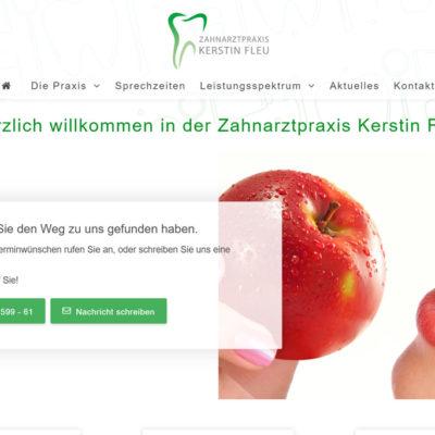 screenshot zahnarzt-extertal.de
