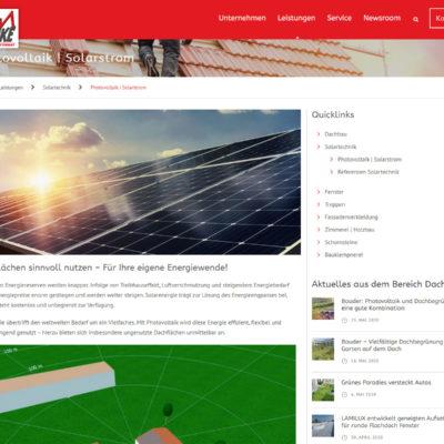 Screenshot Webseite Heinrich Henke GmbH