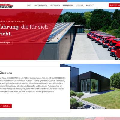 Screenshot Webseite Dachdeckerei Schmiedekamp